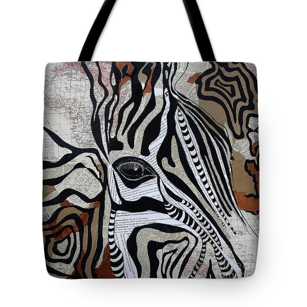 Zebroid Tote Bag