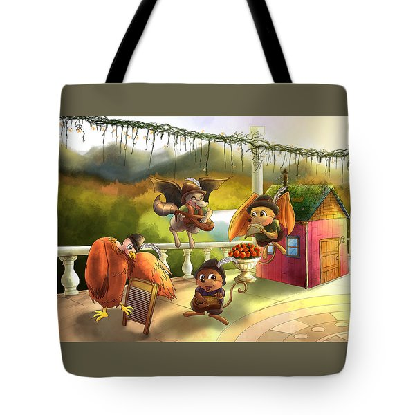 Zeke Cedric Alfred And Polly Tote Bag