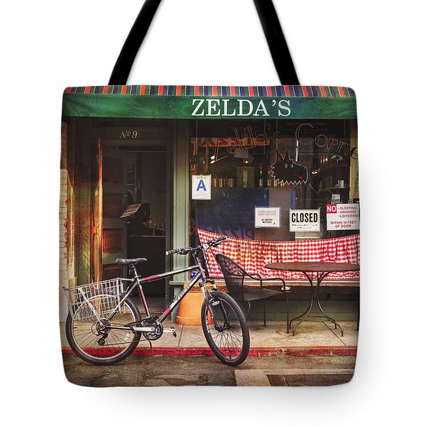 Zelda's Bicycle Tote Bag by Craig J Satterlee