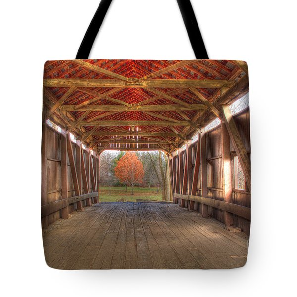 Sycamore Park Covered Bridge Tote Bag