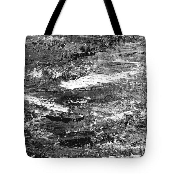 Tote Bag featuring the painting Zen Abstract A723b by Mas Art Studio