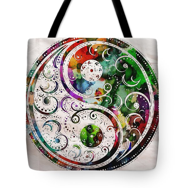 Zen Bliss Large Poster Print Tote Bag