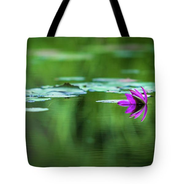 Tote Bag featuring the photograph Zen Blossom by Laura Roberts