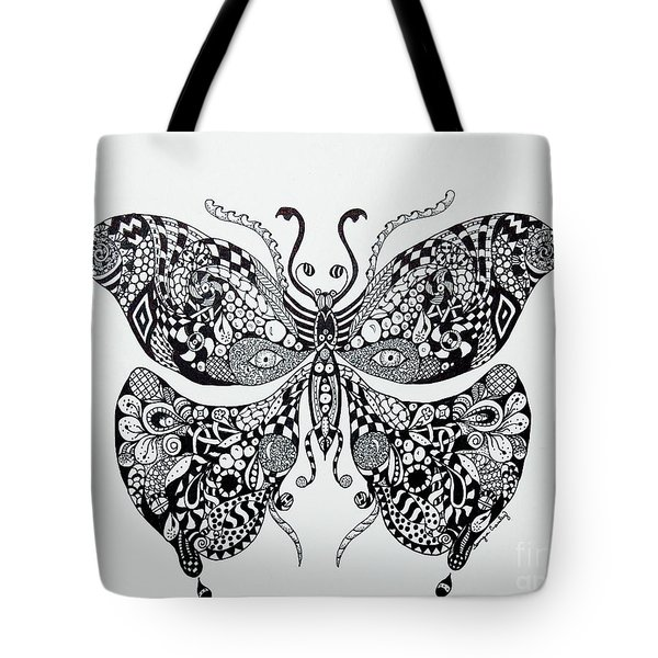 Zen Butterfly Tote Bag