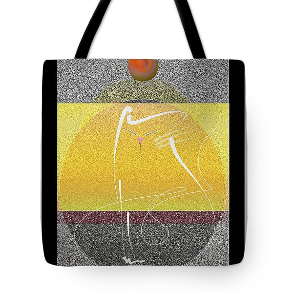 Tote Bag featuring the mixed media Zen Cat by Larry Talley