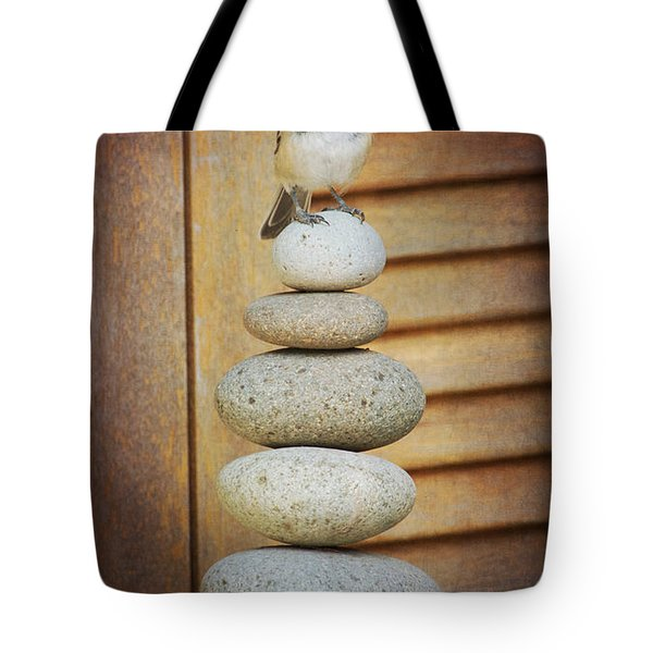 Zen Chickadee Tote Bag