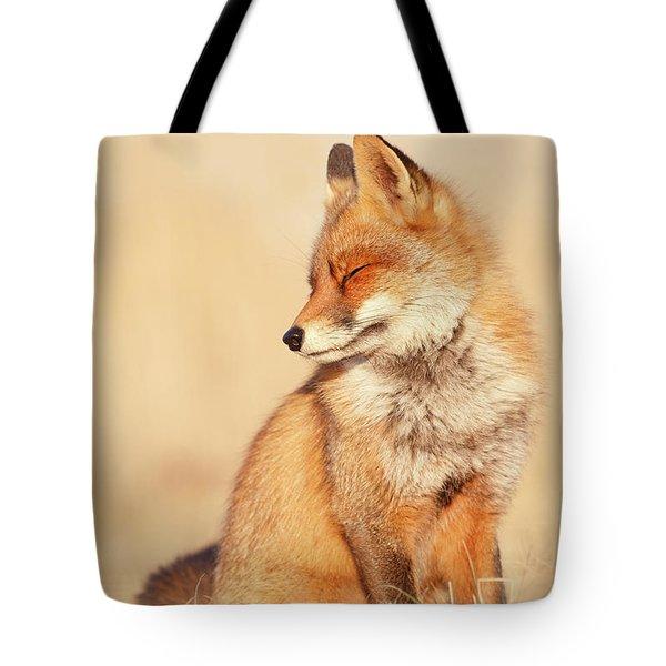 9fc2a4815b40 Tote Bag featuring the photograph Zen Fox Series - Foxtemplations by Roeselien  Raimond