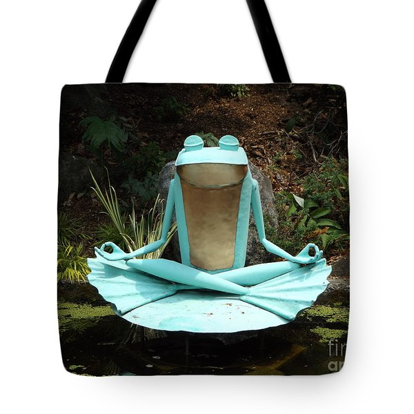 Zen Froggy Tote Bag by Erick Schmidt
