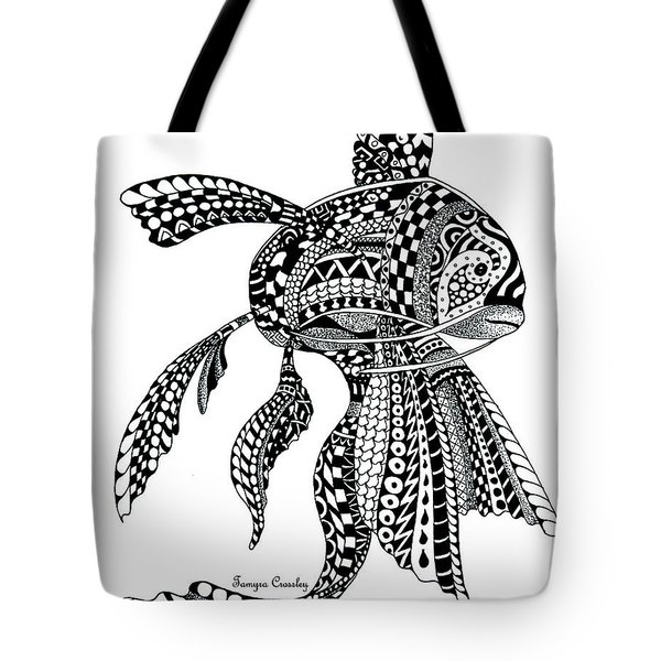 Zen Goldfish Tote Bag