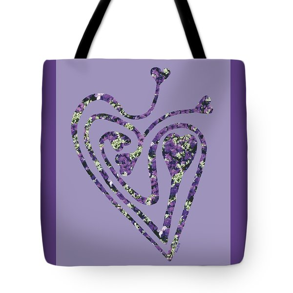 Zen Heart Labyrinth Floral Tote Bag