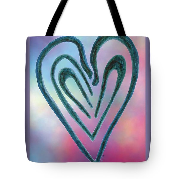Zen Heart Labyrinth Tote Bag