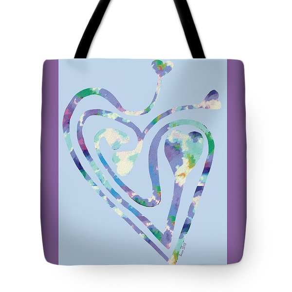Zen Heart Labyrinth Pastel Painting Tote Bag