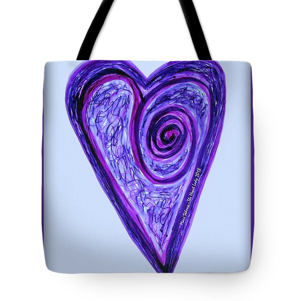 Zen Heart Pink Purple Vortex Tote Bag