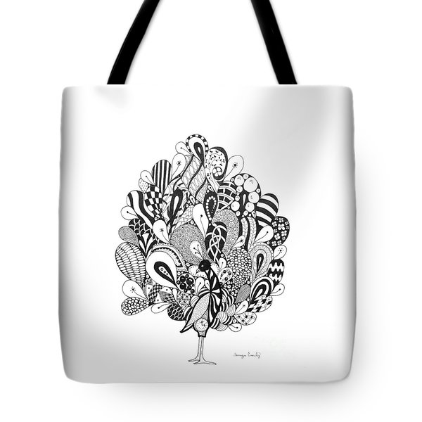 Zen Peacock Tote Bag