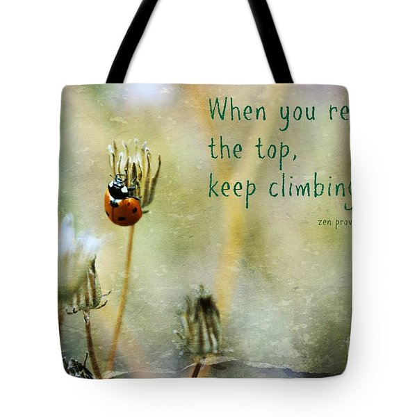 Zen Proverb Tote Bag