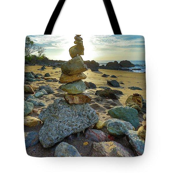 Zen Rock Balance Tote Bag