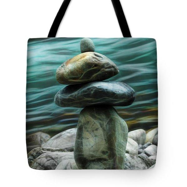 Tote Bag featuring the photograph Zen Rocks by Yulia Kazansky