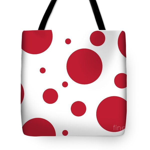 Tote Bag featuring the digital art Zen Sphere Red On White by Bruce Stanfield