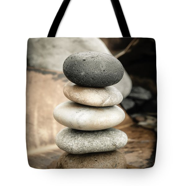 Zen Stones Iv Tote Bag by Marco Oliveira