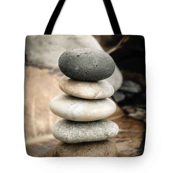 Zen Stones Iv Tote Bag