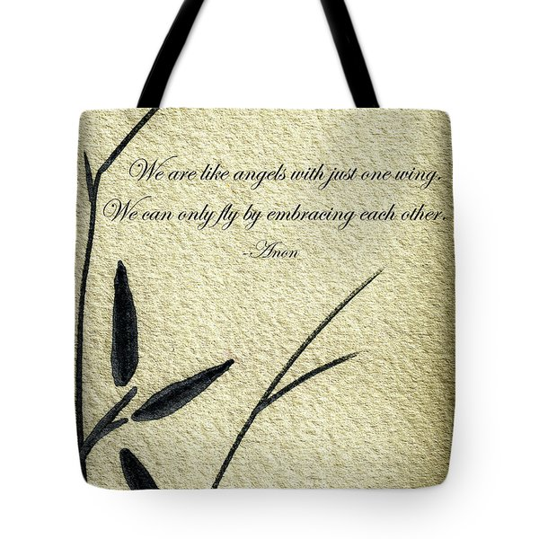 Zen Sumi 4d Antique Motivational Flower Ink On Watercolor Paper By Ricardos Tote Bag
