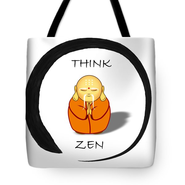 Zen Symbol With Buddha Tote Bag