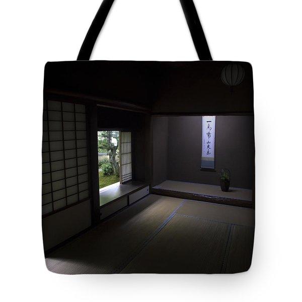 Zen Tea Room Of Koto-in Temple -- Kyoto Japan Tote Bag