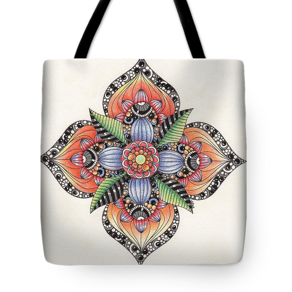 Zendala Template #1 Tote Bag by Jan Steinle