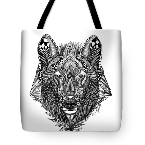 Zendoodle Wolf Tote Bag