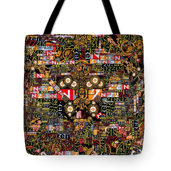 Tote Bag featuring the mixed media Zengine by Peter Gumaer Ogden