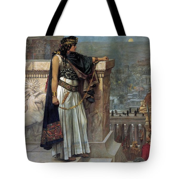 Zenobia's Last Look On Palmyra Tote Bag by Herbert Gustave Schmalz