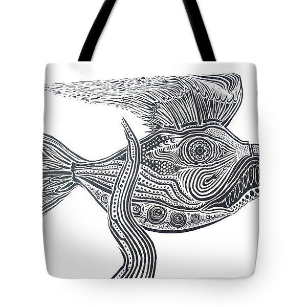 Zentangle Fish Tote Bag
