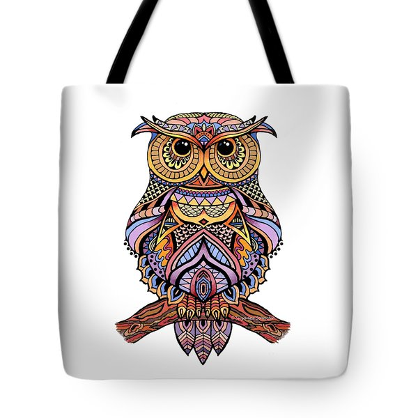 Zentangle Owl Tote Bag