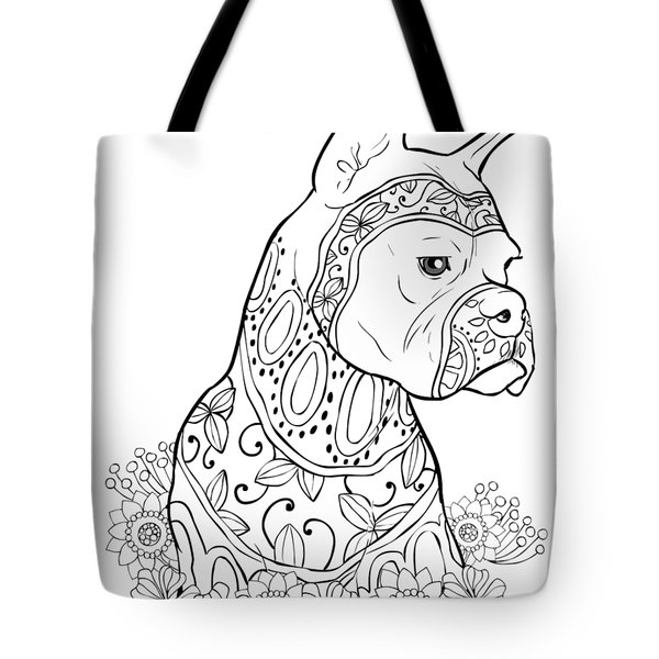 Zentangle Boxer Tote Bag