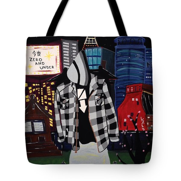 Zero And Under Goes To Tokyo Tote Bag