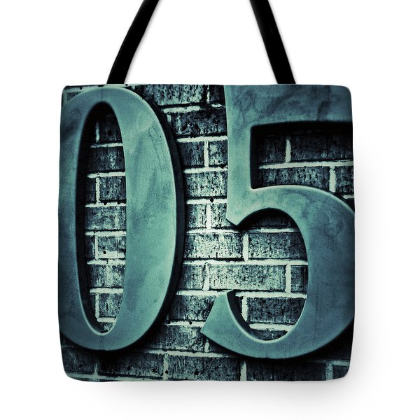 Zero Five Square With Border Tote Bag by Tony Grider