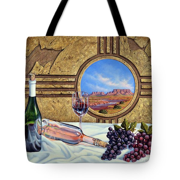 Zia Wine Tote Bag