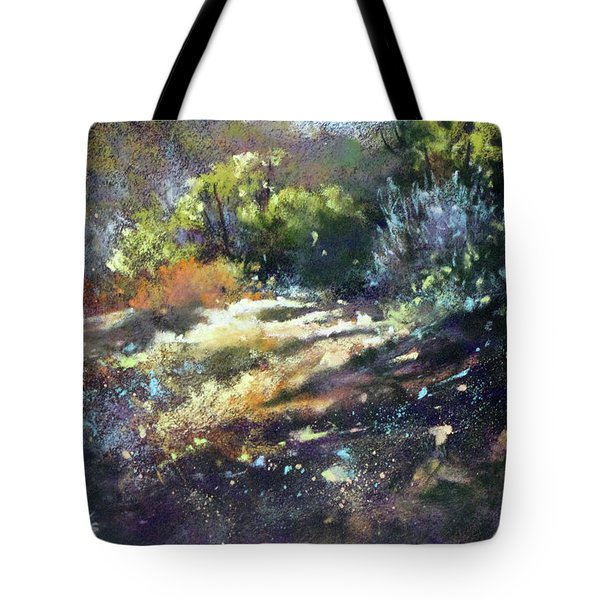 Zig Zag Path Tote Bag by Rae Andrews