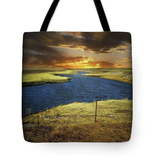 Zig Zag River Tote Bag