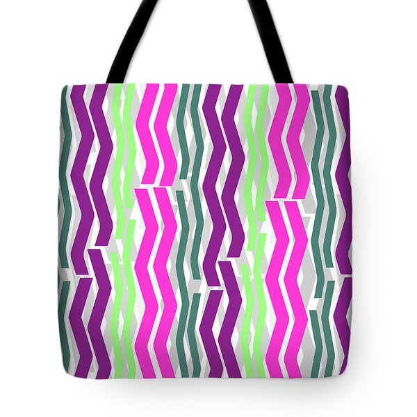 Zig Zig Stripes Tote Bag by Louisa Knight