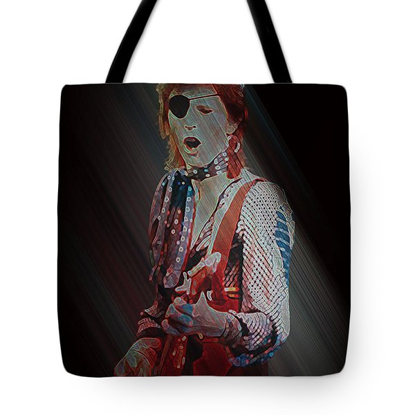Ziggy Played Guitar Tote Bag by Kenneth Armand Johnson