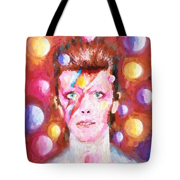 Ziggy Stardust  Tote Bag by Louis Ferreira