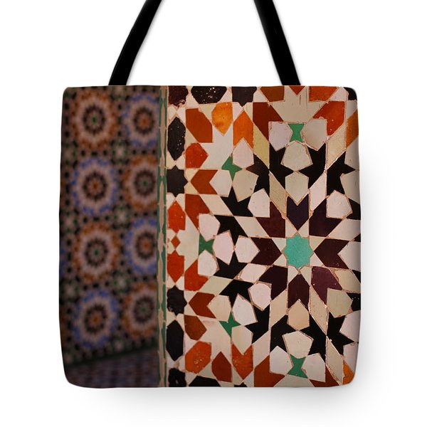 Tote Bag featuring the photograph Zillij by Ramona Johnston