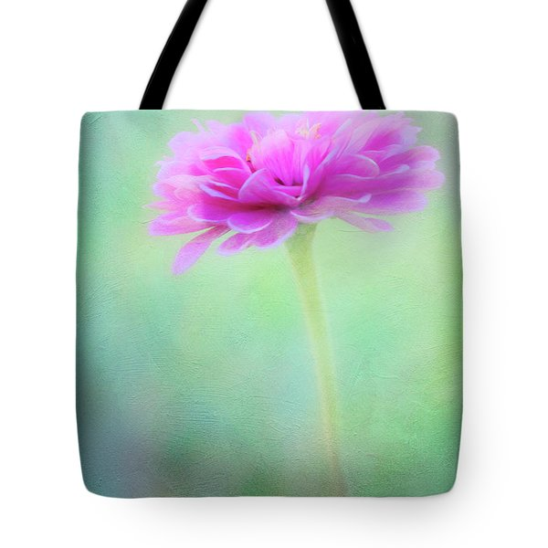 Painted Pink Zinnia Tote Bag