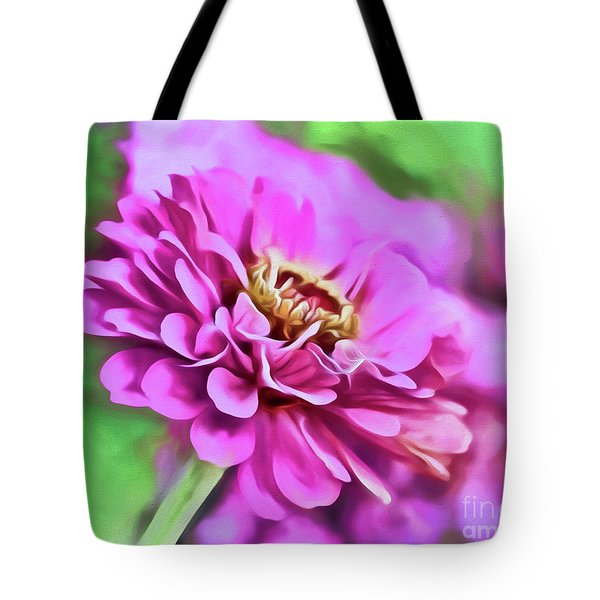 Zinnia Art 2 Tote Bag