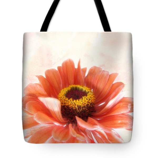 Zinnia Bright Tote Bag by Louise Kumpf