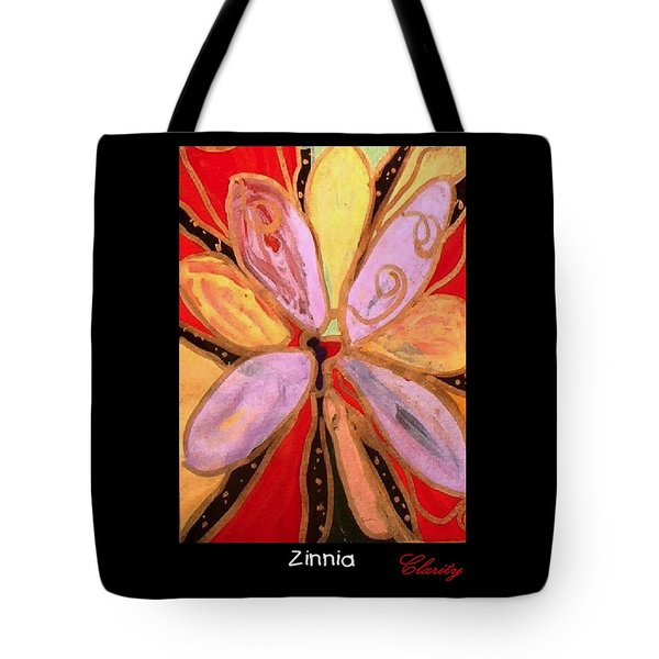Tote Bag featuring the painting Zinnia by Clarity Artists
