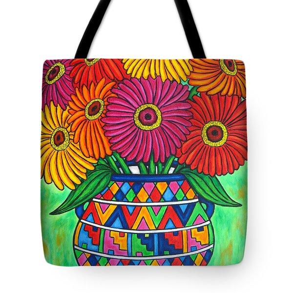 Zinnia Fiesta Tote Bag