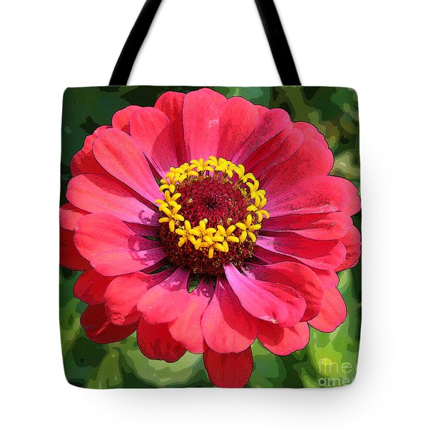 Zinnia Tote Bag by Jeanette French