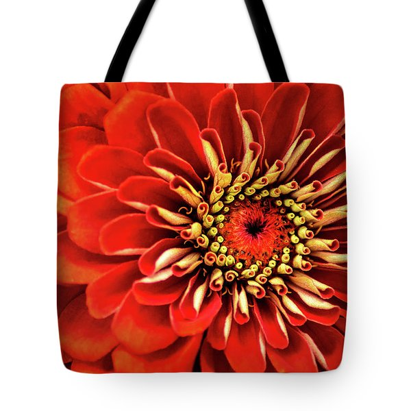 Zinnia-macro Tote Bag
